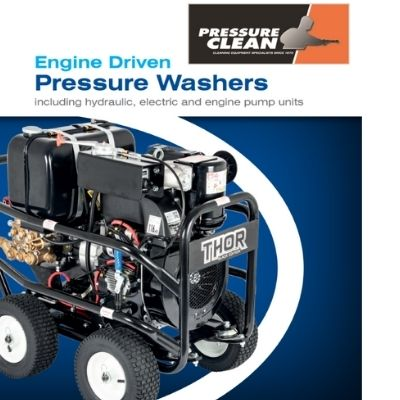 image of engine driven pressure washer at pressure clean